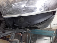 Pladearbejde på Lamborghini Espada `71